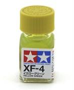 80304 Краска эмалевая XF-4 Yellow Green желто-зеленая 10 мл Tamiya