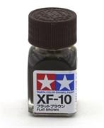 80310 Краска эмалевая XF-10 Flat Brown коричневая 10 мл Tamiya