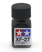 80327 Краска эмалевая XF-27 Black Green черно-зеленая 10 мл Tamiya