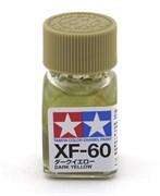 80360 Краска эмалевая XF-60 Dark Yellow темно-желтая 10 мл Tamiya