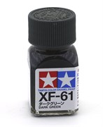 80361 Краска эмалевая XF-61 Dark Green темно-зеленая 10 мл Tamiya