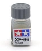 80366 Краска эмалевая матовая XF-66 Light Gray светло-серая 10 мл Tamiya