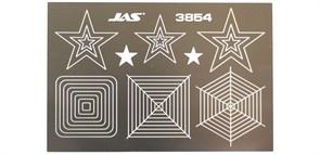 3854 Трафарет для вырезания звезд