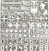 3801 Трафарет Опознавательные знаки армии Германии 2 МВ