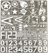 3805 Трафарет Опознавательные знаки современной армии США