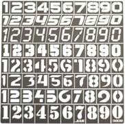 3809 Трафарет цифры 80 символов масштаб 1/35