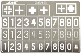 3819 Трафарет Опознавательные знаки немецких танков 2 МВ масштаб 1/35
