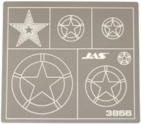 3856 Трафарет для вырезания американских звезд