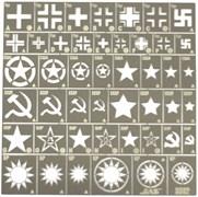 3802 Трафарет Опознавательные знаки армий Германии, США, СССР, КНР, Тайваня 2 МВ