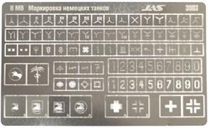 3803 Трафарет Опознавательные знаки армии Германской техники, 2 МВ