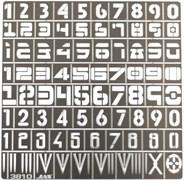 3810 Трафарет цифры 80 символов