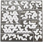 3835 Трафарет Камуфляж треугольники