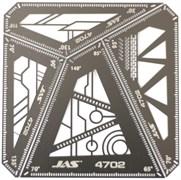 4702 Набор линеек-угольников 4 в 1