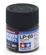 82165 Краска LP-65 Rubber black резиновый черный 10 мл Tamiya