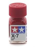 80007 Краска эмалевая глянцевая X-7 Red красная 10 мл Tamiya