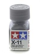 80011 Краска эмалевая глянцевая X-11 Chrome Silver хром.серебро 10 мл Tamiya