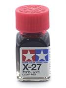 80027 Краска эмалевая глянцевая X-27 Clear Red прозрачно-красная 10 мл Tamiya