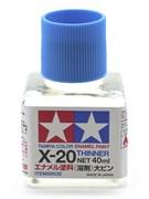 80030 Растворитель для эмали X-20 Enamel Thinner 40 мл Tamiya