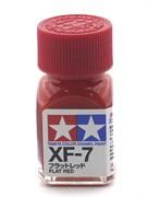 80307 Краска эмалевая матовая XF-7 Flat Red красная 10 мл Tamiya