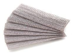 4635 Набор шлифовальной сетки на липучке P80 P100 P120 30x90 мм 6 шт.