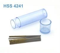 42265 Мини-сверло HSS 4241 титановое покрытие d 0,8 мм 10 шт.