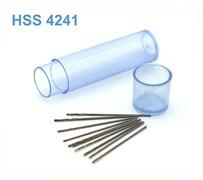42561 Мини-сверло HSS 6542 (M2) титановое покрытие d 0,6 мм 10 шт.