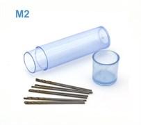42563 Мини-сверло HSS 6542 (M2) титановое покрытие d 0,7 мм 10 шт.