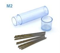42567 Мини-сверло HSS 6542 (M2) титановое покрытие d 0,9 мм 10 шт.