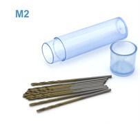 42569 Мини-сверло HSS 6542 (M2) титановое покрытие d 1,0 мм 10 шт.