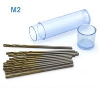 42573 Мини-сверло HSS 6542 (M2) титановое покрытие d 1,4 мм 10 шт.