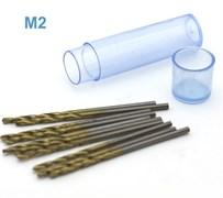 42574 Мини-сверло HSS 6542 (M2) титановое покрытие d 1,5 мм 10 шт.