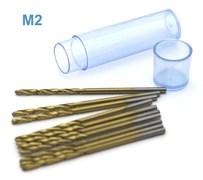 42575 Мини-сверло HSS 6542 (M2) титановое покрытие d 1,6 мм 10 шт.