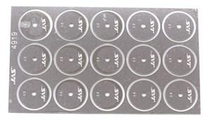 4919 Диск для ревитера d 15 мм шаг 0,5 мм 15 шт.