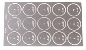 4930 Диск для ревитера d 15 мм шаг 1,5 мм 15 шт.