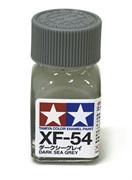 80354 Краска эмалевая матовая XF-54 Dark Sea Gray темно-серая морская 10 мл Tamiya