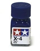 80004 Краска эмалевая глянцевая X-4 Blue синяя 10 мл Tamiya